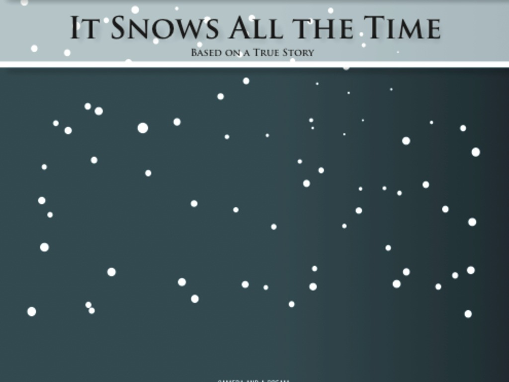 It Snows All the Time's video poster