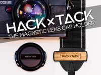 Magnetic camera lens cap holder - HACKxTACK