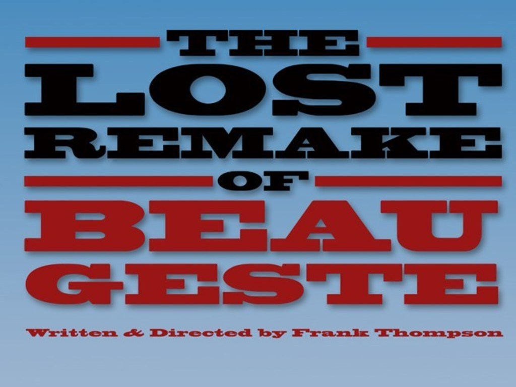 The Lost Remake of Beau Geste's video poster