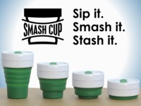 SMASH CUP: A reusable coffee cup that fits in your pocket