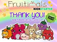 Fruitimals Plush Toys -Orange Fox, Eggplantypus, Cherry Octo