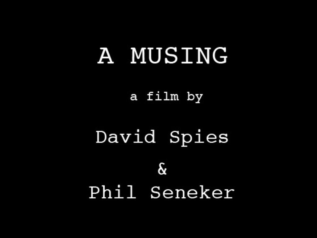 """A Musing"" short film's video poster"