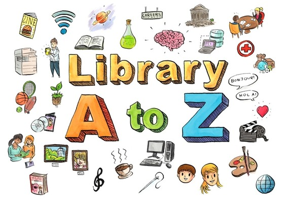 Library A to Z illustration by Josh Filhol