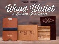 Wood Minimalist wallet / business card holder