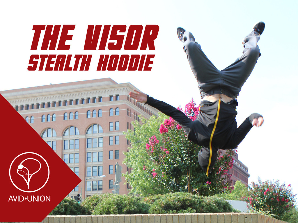 The Visor: Stealth Hoodie-Face Guard Hood with Clear Vision's video poster