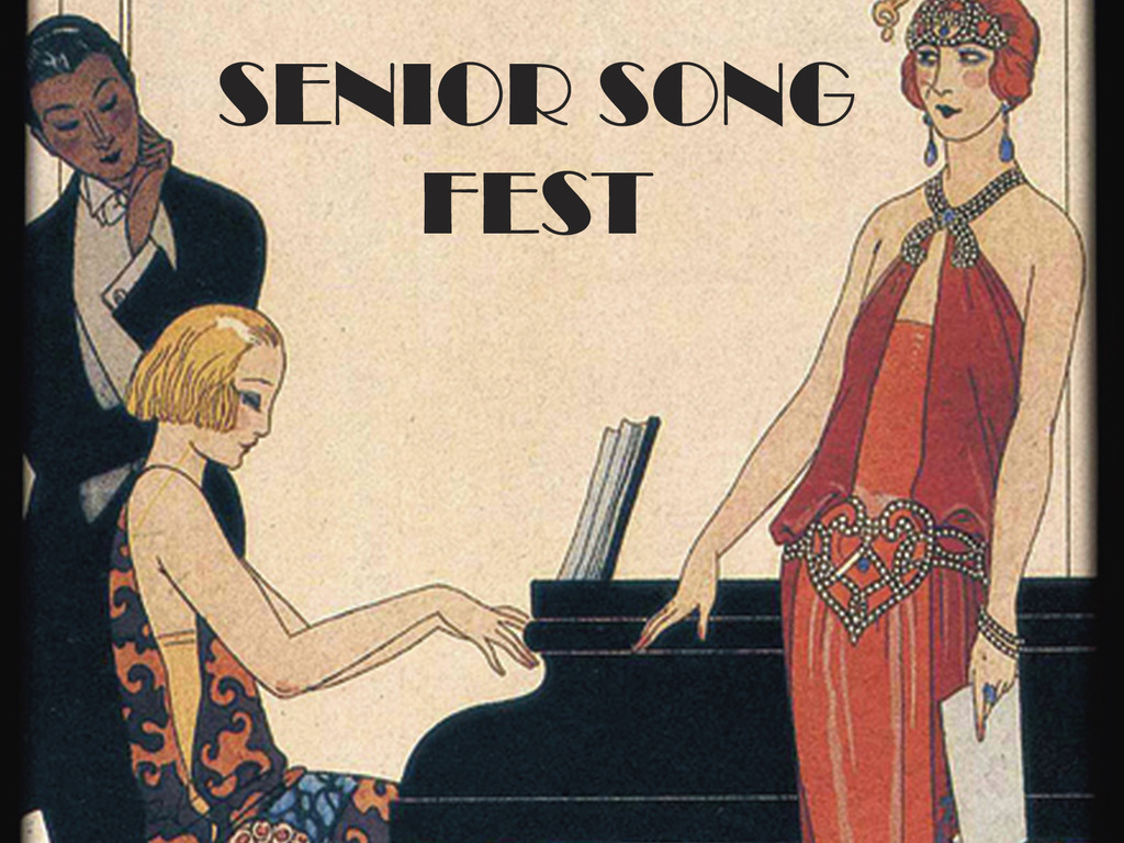 Senior Song Fest's video poster