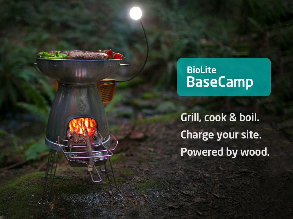 BioLite BaseCamp Stove | Turn Fire into Electricity's video poster