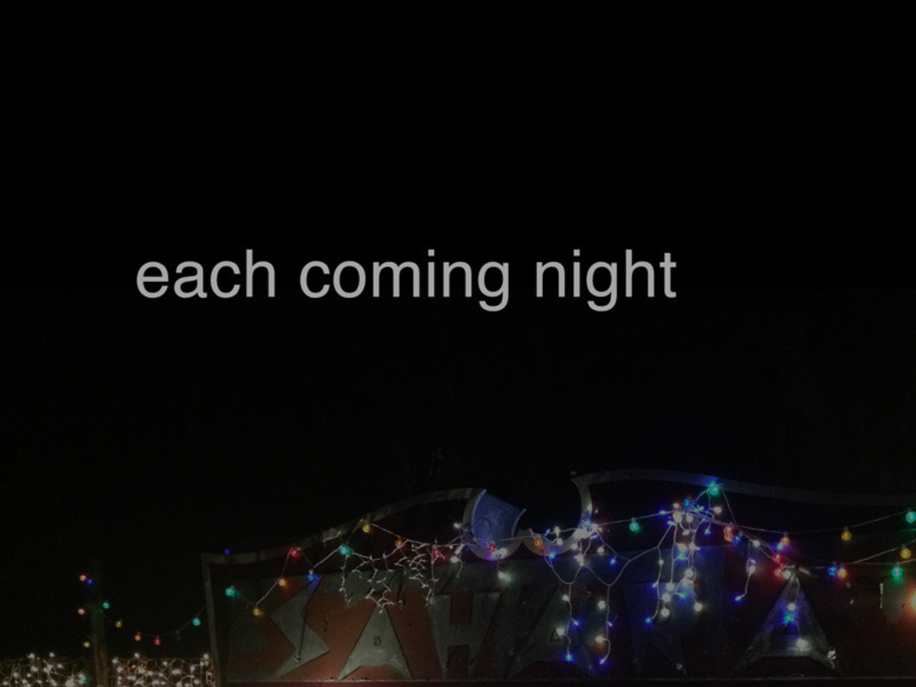 Each Coming Night's video poster