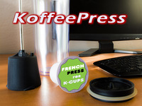 KoffeePress: A Portable French Press for Keurig® K-Cups®
