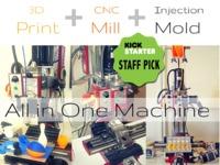 TRiBOT 3D Print, CNC Mill, Auto-Mold machine in one machine