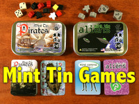 Mint Tin Games - Pirates & Aliens