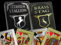 Metal Playing Cards: Titanium, Brass, & Copper
