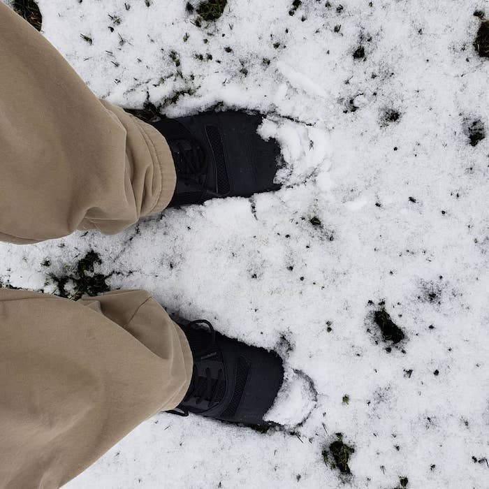 Arborist wearing Kujo shoes