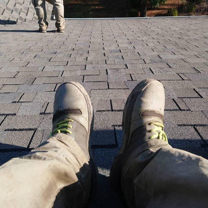 Walking on roof wearing Kujo shoes