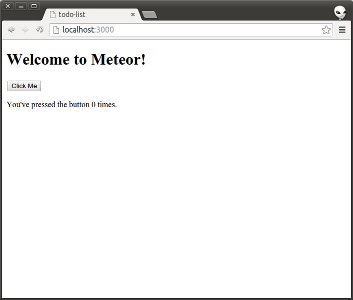 Meteor.JS Hello World App