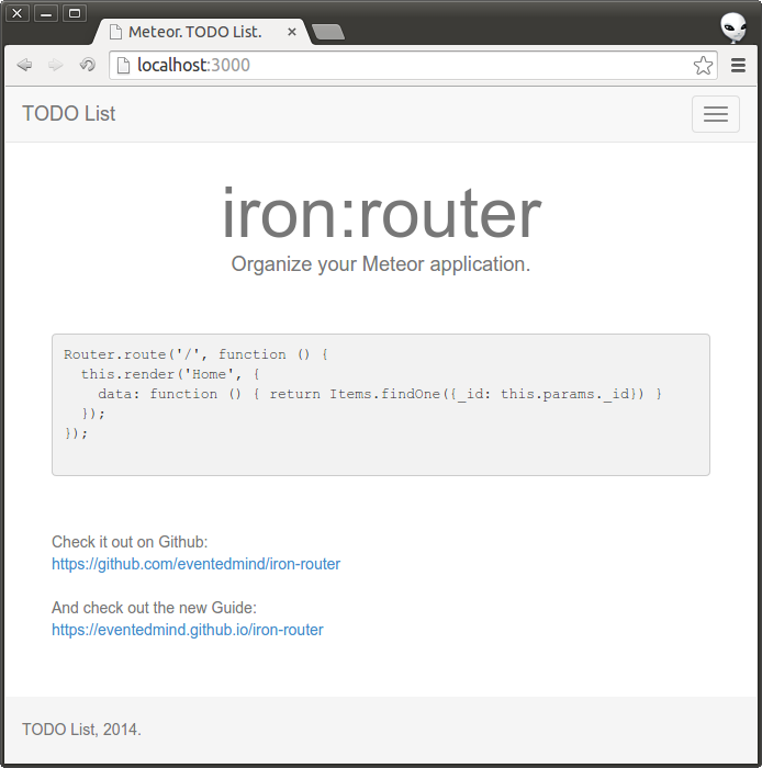 iron:router - Organize your Meteor application