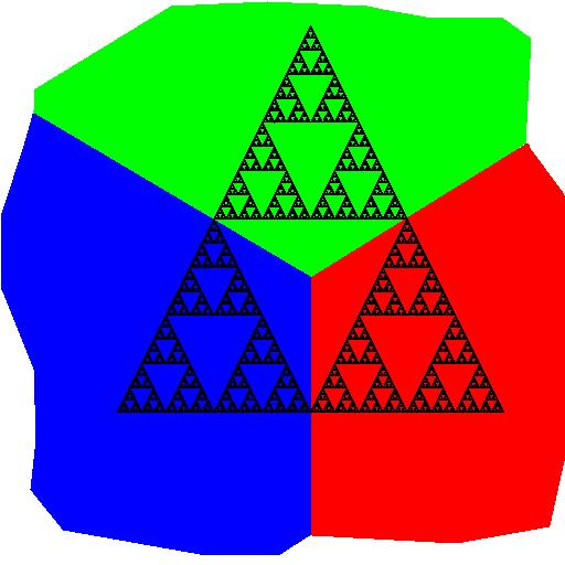 Fractal. Sierpinski Triangle.