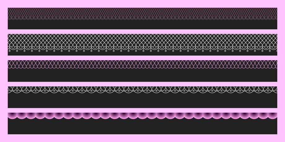 Lace Patterns in CSS 1