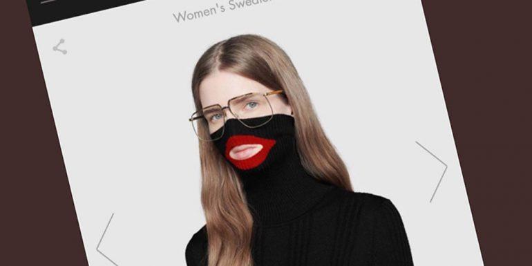0fe5a11573a1 Gucci discontinues  890 Blackface turtleneck