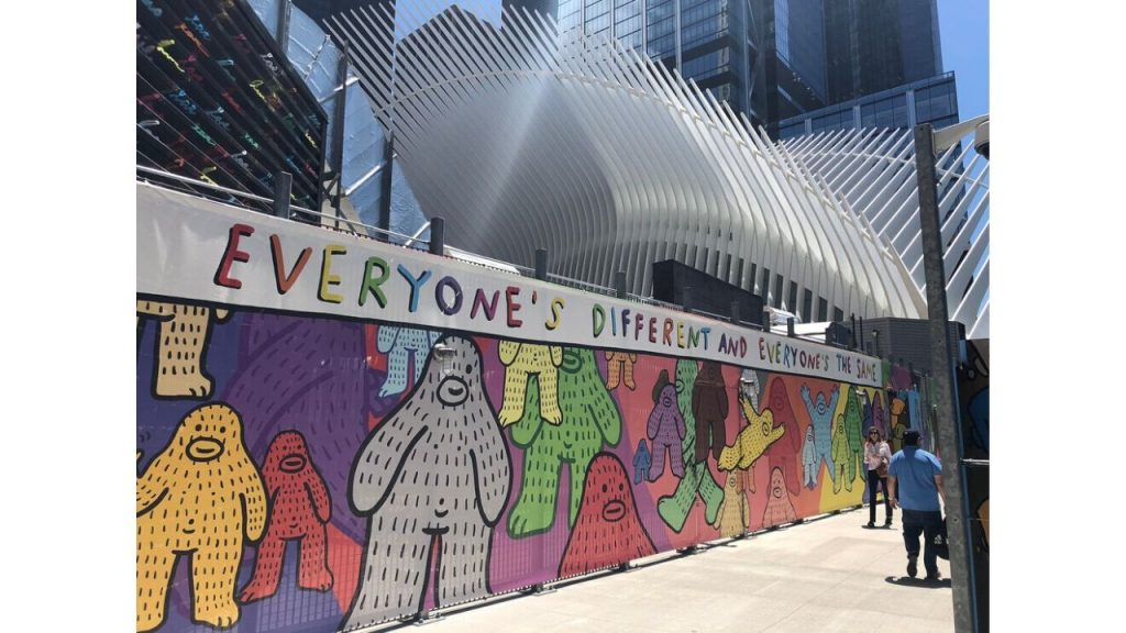 Brandon sines WTC mural