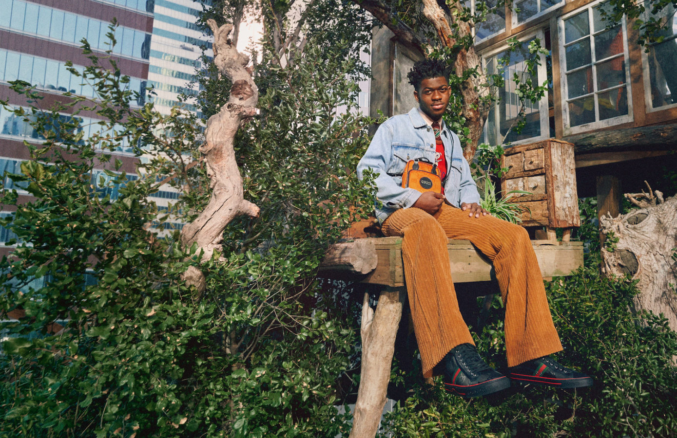 Lil Was X in Off The Grid Gucci ad campaign, photographed by Harmony Korine.