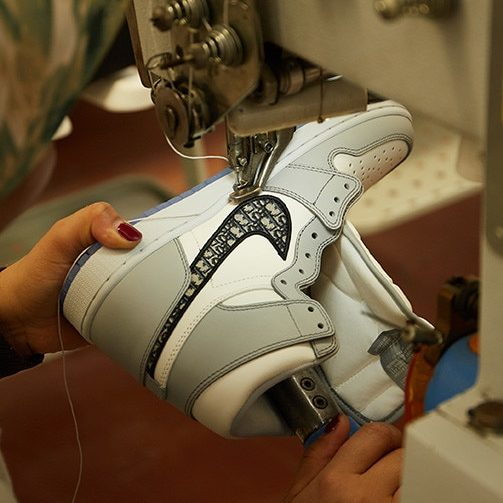 Dior Air Jordan 1s low. Photo courtesy of Dior