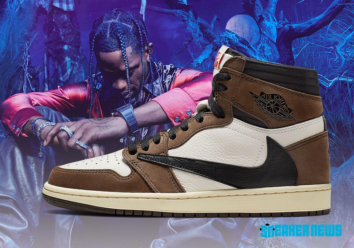 Cactus Jack Air Jordan 1s. Photo courtesy of Sneaker News.