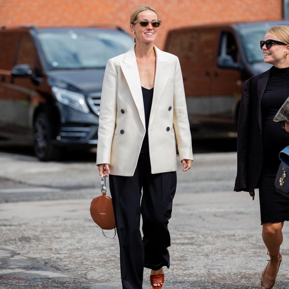 Cecilie Thorsmark, CEO of Copenhagen Fashion Week in Scandi girl attire.