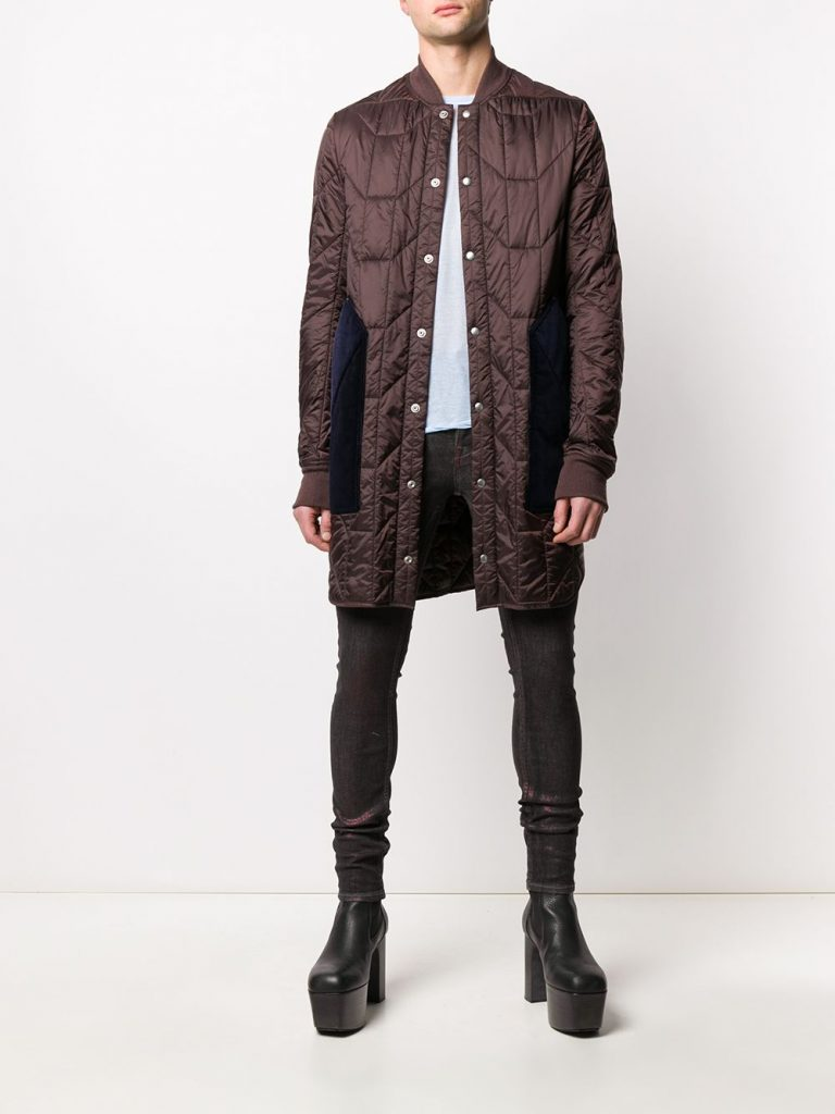 Rick OwensGeometric Quilted Padded winter Coat