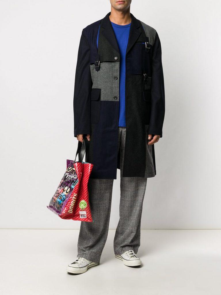 Comme Des Garçons ShirtPatchwork Wool winter Coat