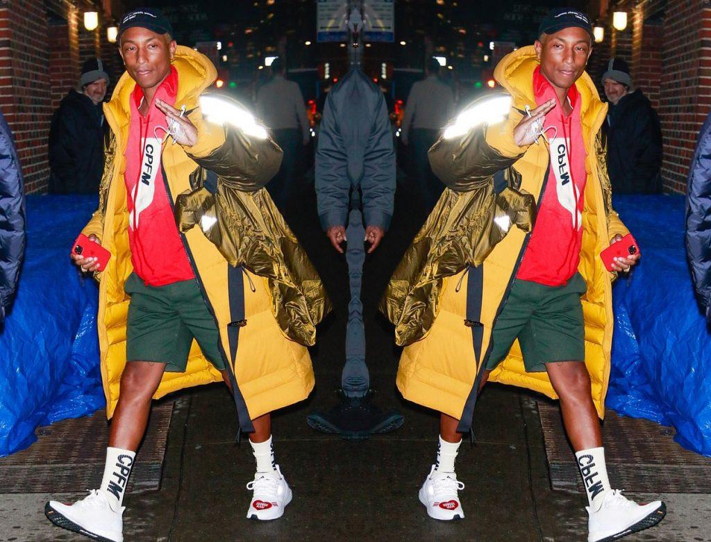 Pharrell in puffer, DailyMail UK