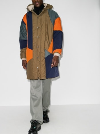 Ahluwalia Panelled Quilted winter Coat