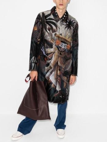 Endless Joy Jauk Printed Single-Breasted Coat