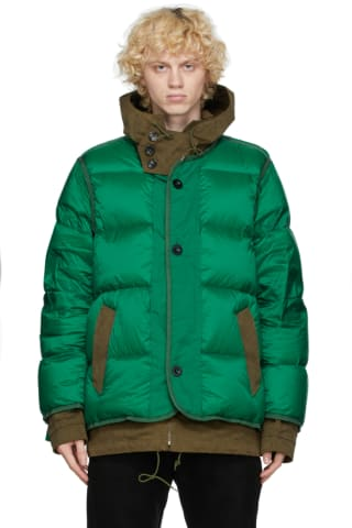 Sacai Green Ten C Edition Down Jacket