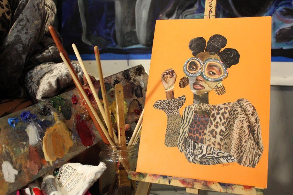 collage art empowering black women