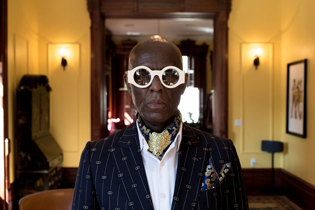 October 15, 2020: Dapper Dan at his Gucci atelier in Harlem, NYC, for Forbes.com. PHOTO: Cassell Ferere.