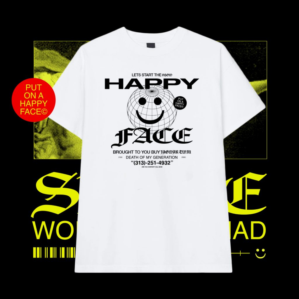 Happy Face merchandise Jagwar TWIN and CTHDRL