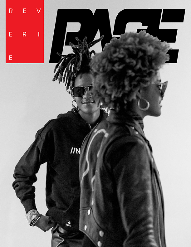 Reverie: PAGE magazine Issue #1, published in September of 2020. Cover: Coco & Breezy eyewear designers, photographed in November 2019. PHOTO: Cassell Ferere.