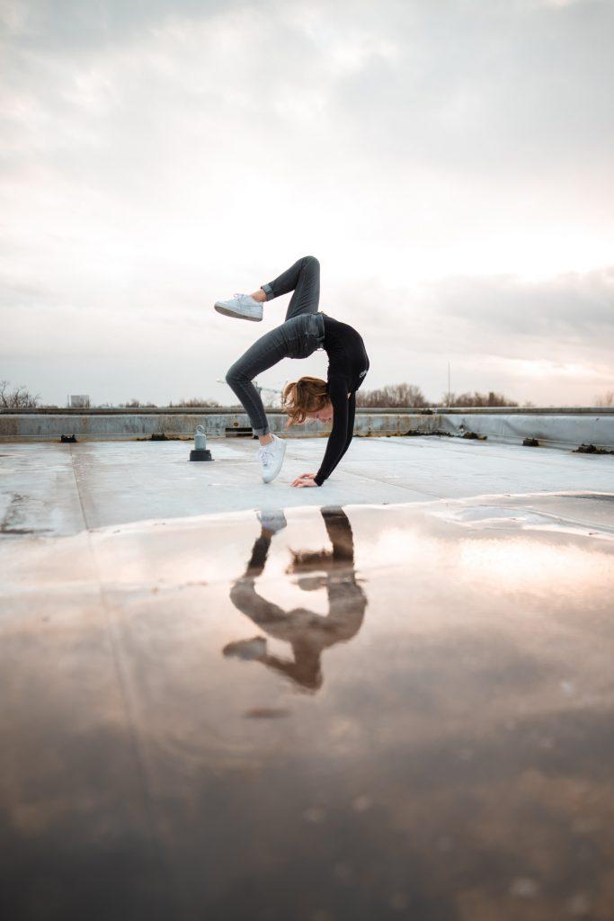 dancer doing backflips