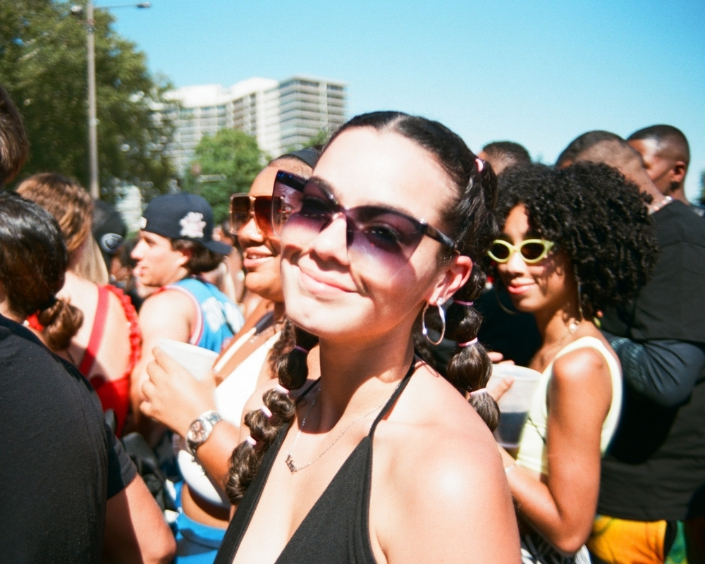 photographing music festival