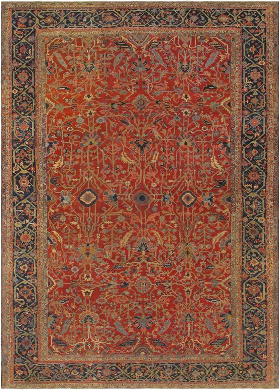 Antique Serapi Rug F 0109 Serapi 13 4 X 19 0 Wool All Over