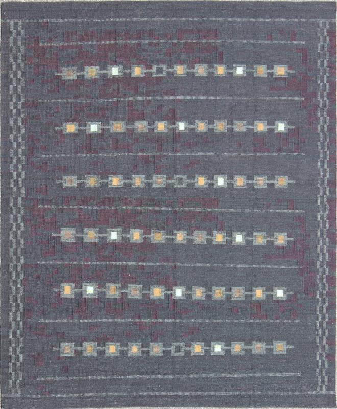 "Scandinavian Flat Weave Rug - RJK-15372-SHB-028-04 | Scandinavian Flat Weave - 9'9"" x 11'0"" 