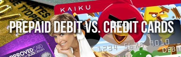 prepaid debit cards vs credit cards