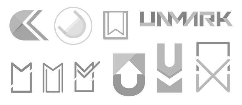 Unmark Logo Sketches
