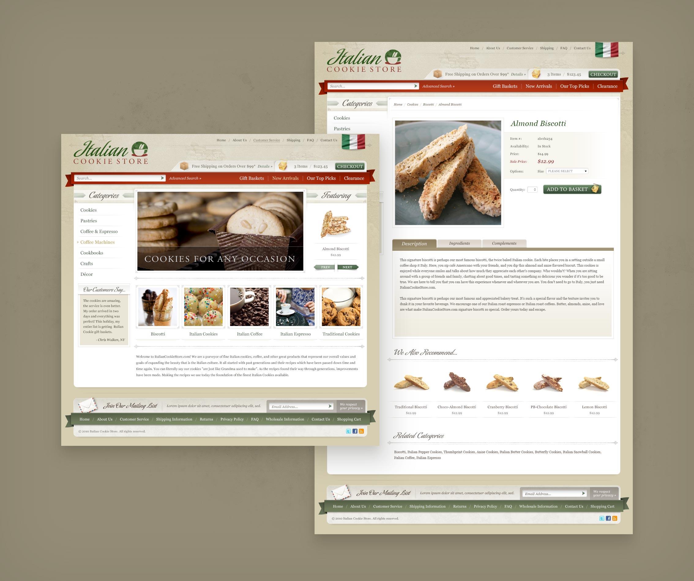 Italian Cookie Store Design