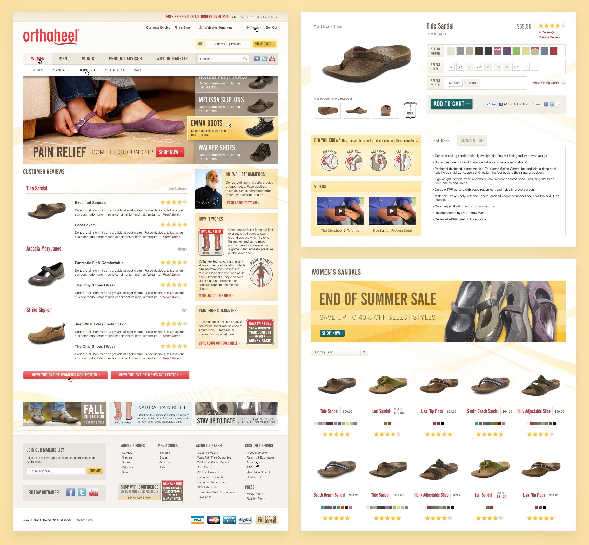 Orthaheel Shop Design