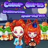 Color Girls Halloween Hairstyles