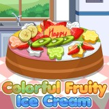 Colorful Fruity Ice Cream