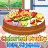 Colorful Fruity Ice Cream