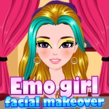 Emo Girl Facial Makeover